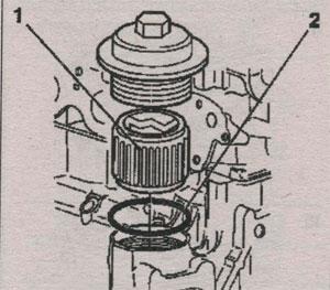 корпус масляного фильтра Opel Vectra С