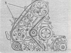 шестерни зубчатого ремня Opel Vectra
