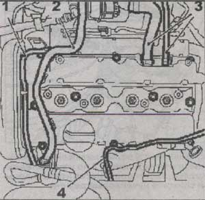 шланг вентиляции картера Opel Vectra C,шланг вентиляции картера Opel Signum