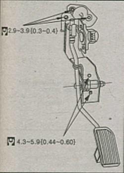 педаль акселератора Nissan Almera