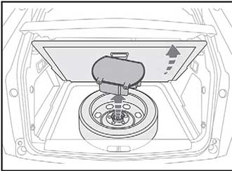 Доступ к запасному колесу Peugeot 3008