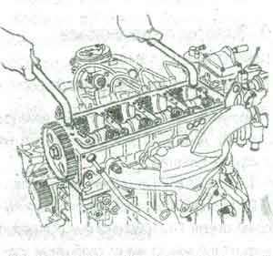 головка блока цилиндров Peugeot 206