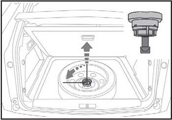 Извлечение колеса Peugeot 3008 / 5008