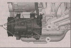 компрессор кондиционера Peugeot 207
