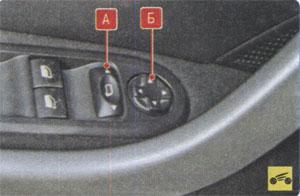 Переключатель блокировки зеркал Peugeot 408
