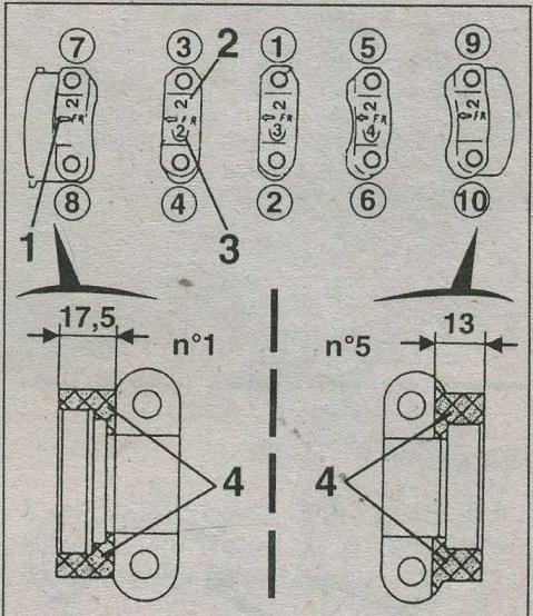 маркировка затяжки креплений nissan almera, нумерация затяжки креплений nissan almera, порядок затяжки креплений nissan almera