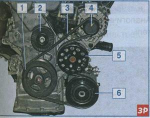 ремень привода вспомогательных агрегатов Kia Ceed