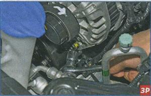 прогиб ремня привода вспомогательных агрегатов Kia Ceed