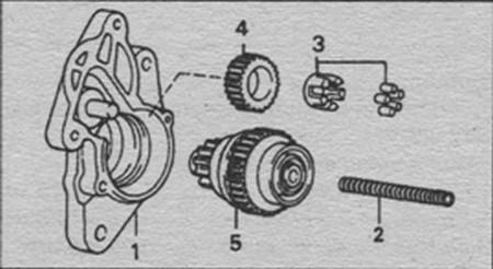разборка стартера 1, 4 кВт автомобиля Toyota Land Cruiser 80