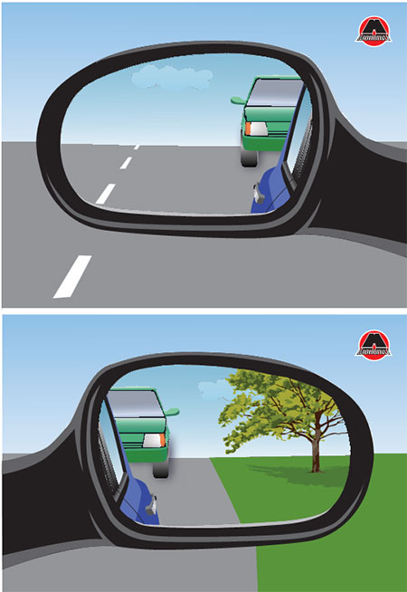 вид у зовнішніх дзеркалах