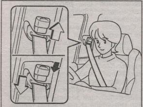 ремень безопасности в салоне Toyota Caldina 2002 года