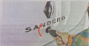 Ключ зажигания Renault Sandero 2
