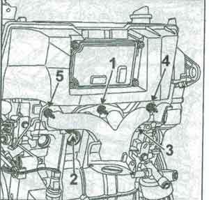 крепление коллектора Renault Twingo