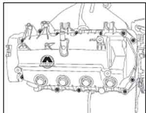 крышка коромысел Renault Sandero, крышка коромысел Dacia Sandero, крышка коромысел Sandero Stepway