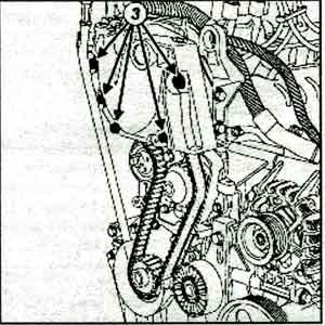 крышка привода грм Renault Logan, крышка привода грм Renault Sandero