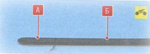 Метки на щупе Renault Duster