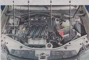 моторный отсек Renault Duster, моторный отсек Dacia Duster