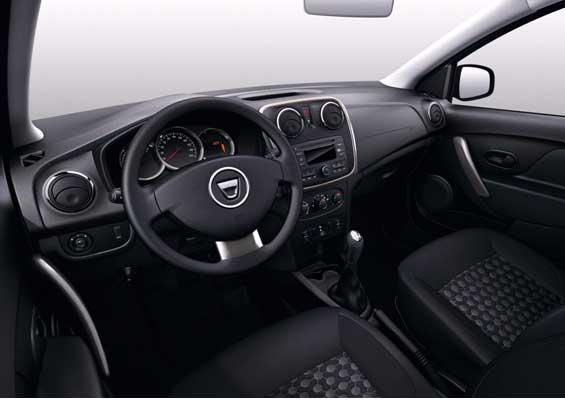салон автомобиля Renault Sandero, салон автомобиля Dacia Sandero, салон автомобиля Sandero Step Way NEW