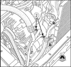трубопровод компрессора Renault, трубопровод компрессора Dacia Logan, трубопровод компрессора  Logan MCV
