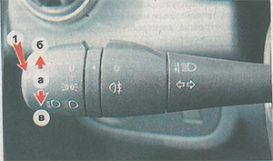 Выключатель указателей поворота Renault Logan 2