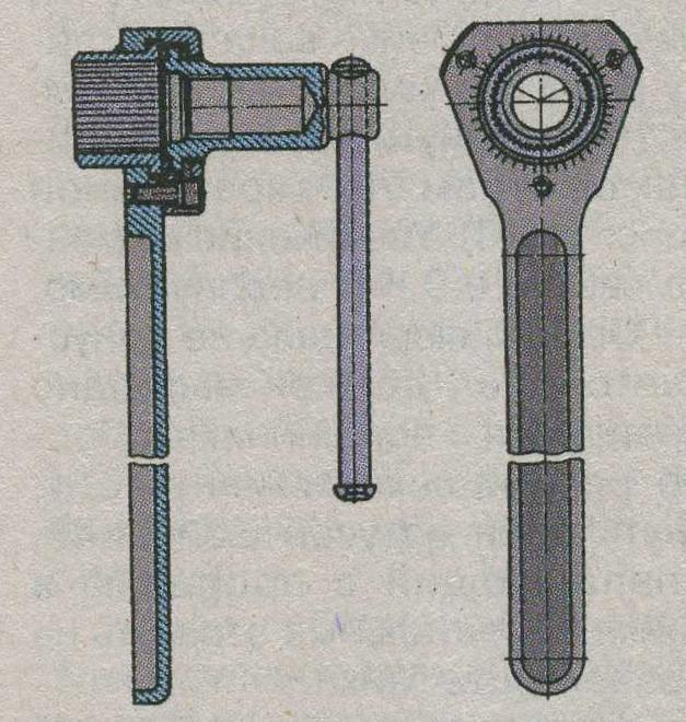 рычажный ключ ЗиЛ 5301 Бычок, поворот вала сошки ЗиЛ 5301 Бычок