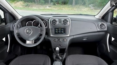 автомобиль Renault Logan New 2012, салон автомобиля Renault Logan New 2012, рулевое управление Renault Logan New 2012