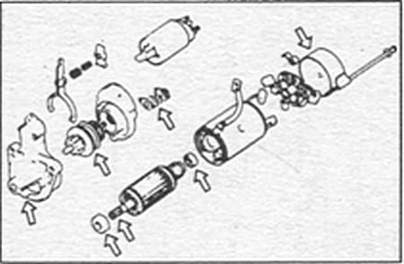 сборка стартера Kia Sportage