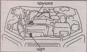 масляный щуп Toyota RAV4