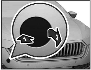 Передняя буксировочная петля Skoda Octavia с 2019 года