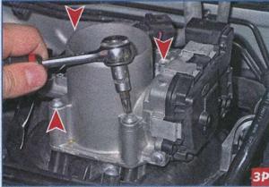 колодка жгута проводов VW Polo Sedan, блок управления дросельного узла VW Polo Sedan