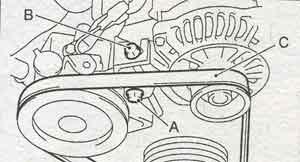 привод генератора Subaru Legacy, привод генератора Outback, привод генератора Lancaster