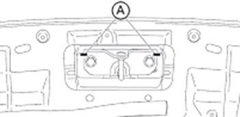 Скоба замка Subaru XV