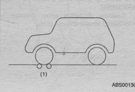 тестер тормозов передних колес Subaru Impreza