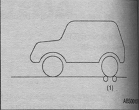 тестер тормозов задних колес Subaru Impreza
