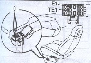диагностические разъемы Toyota Previa