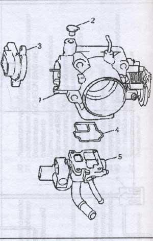 корпус дроссельной заслонки Suzuki Baleno.