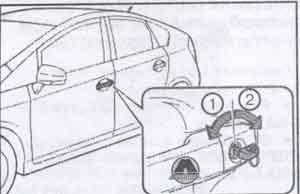 отпирание дверей Toyota Prius