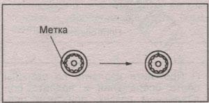 метки крепежа грм Toyota Passo, метки крепежа грм Daihatsu Boon