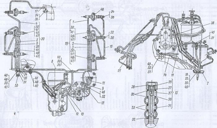 Топливопроводы Т-150К