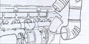 колено воздуховода двигателей Cummins ISX
