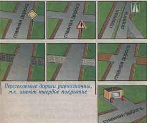 пересекаемые дороги