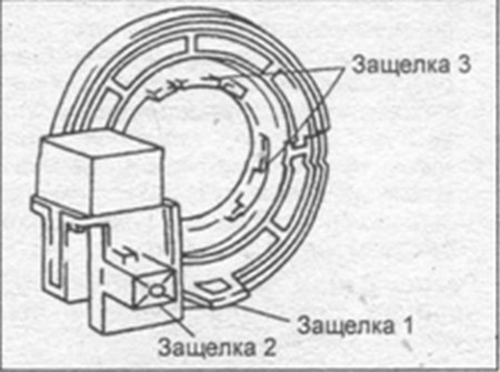 Защелки антенны транспондера Mazda 323