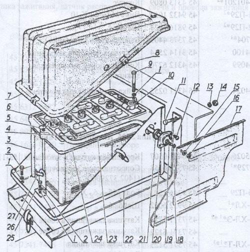 аккумуляторная батарея ГАЗ 3307