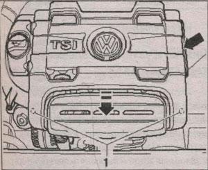 кожух двигателя Volkswagen Touran