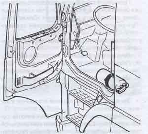 расположение огнетушителей Volvo FH12