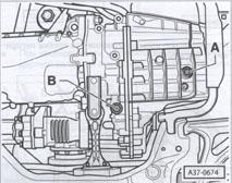слив масла VW Passat B6